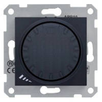 Светорегулятор (диммер) индуктивный поворотно-нажимной проходной 1000 VA графит Sсhneider Sedna Седна