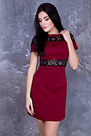 Стильное женское бордовое платье Валенсия ТМ Irena Richi 42-48 размеры
