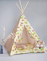 Вигвам - палатка  «Бежевая совушка»