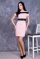 Стильное женское розовое платье Валенсия ТМ Irena Richi 42-48 размеры