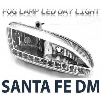 Дневные ходовые огни LED с ПТФ 2WAY (EURO STYLE) - Hyundai Santa Fe DM / ix45 (LEDIST), фото 2