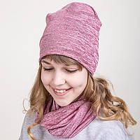 Комплект весений из шапки и хомута для девочки - Артикул 2074е