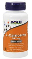 Л Карнозин, Now Foods, L-Carnosine 500 mg, 50 Caps