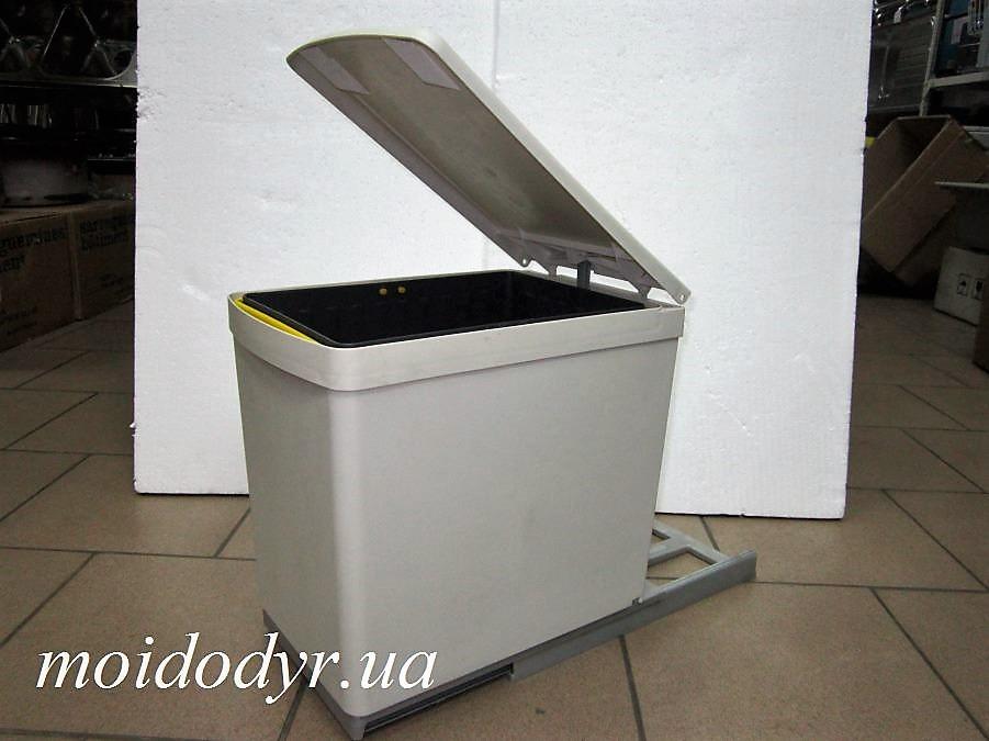 Ведро мусорное с одним контейнером на направляющих