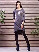 Красивое и приятное к телу платье серого цвета