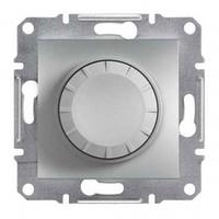 Светорегулятор (диммер) 600 ВА проходной, алюминий, Sсhneider Asfora Шнайдер Асфора