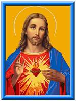 Схема для вышивки на канве Святое Сердце Иисуса КТК - 3075