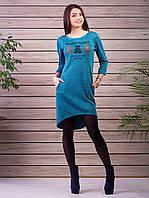 Красивое и приятное к телу платье бирюзового цвета