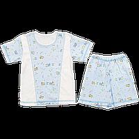 Детский летний костюмчик, футболка и шортики, тонкий хлопок; ТМ Малыш, р.98-104
