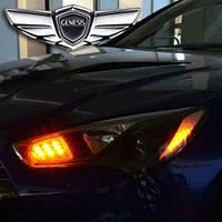LED-модули передних рефлекторов с иллюминацией (2 цвета) - Hyundai The New Genesis Coupe F/L  (EXLED)