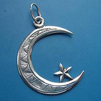 Срібна підвіска Мусульманський півмісяць, фото 3