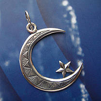 Срібна підвіска Мусульманський півмісяць, фото 2