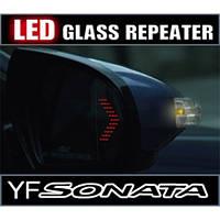 Асферические зеркала с LED повторителями и подогревом - Hyundai YF Sonata / i45 (KABIS)