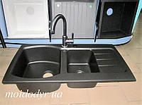 Гранитная угловая кухонная мойка Sinks Neomedian