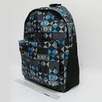 Рюкзак с карманом JO Шахматка 42x30x13 см 0608-B