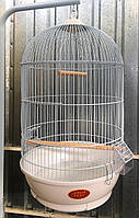 Круглая клетка для попугаев ™️ «Золотая клетка» 40*70