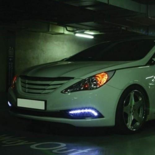 Дневные ходовые огни LED (DRL) - Hyundai YF Sonata / i45 (GOGOCAR)
