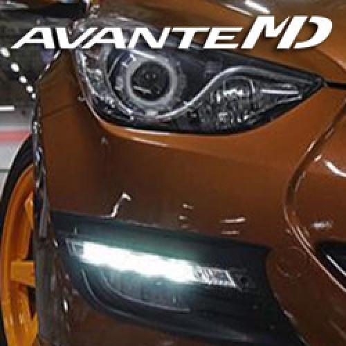 Дневные ходовые огни LED (DRL) Ver.2 Straight Type - Hyundai Avante MD / Elantra MD (GAON)