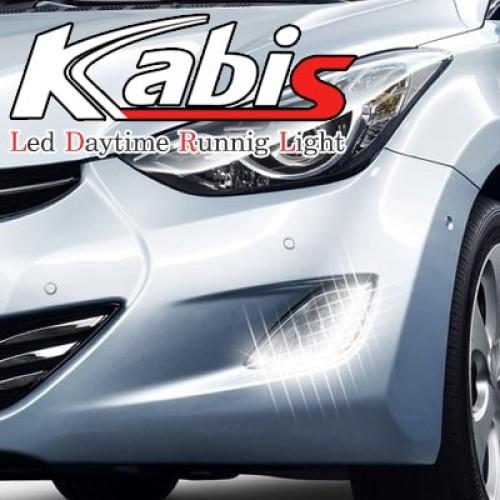 Денні ходові вогні LED 2-Way в ПТФ - Hyundai Avante MD / Elantra MD (KABIS)