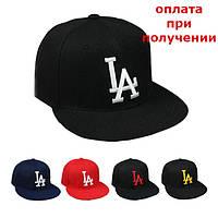 Мужская стильная кепка бейсболка реперка хип хоп с прямым козырьком LA Los Angeles Snapback