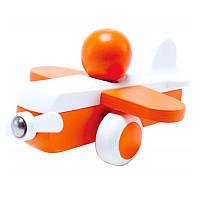 Деревянная игрушка Hape Cамолетик Оранжевый (E0065) , фото 1