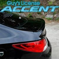 Лип-спойлер на крышку багажника - Hyundai New Accent / Solaris (ARTX)