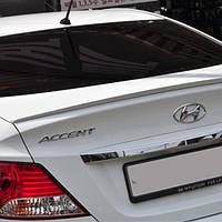 Спойлер на крышку багажника уретановый - Hyundai New Accent / Solaris (MIJOOCAR)