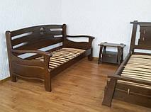 """Деревянный диван """"Луи Дюпон Люкс"""". Массив дерева - ольха, покрытие - """"лесной орех"""" (№ 44)."""
