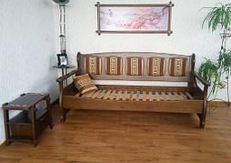 """Деревянный диван """"Ян Марти - 4"""". Массив дерева - ольха, покрытие - """"лесной орех"""" (№ 44). 2"""