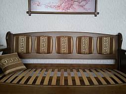 """Деревянный диван """"Ян Марти - 4"""". Массив дерева - ольха, покрытие - """"лесной орех"""" (№ 44). 5"""