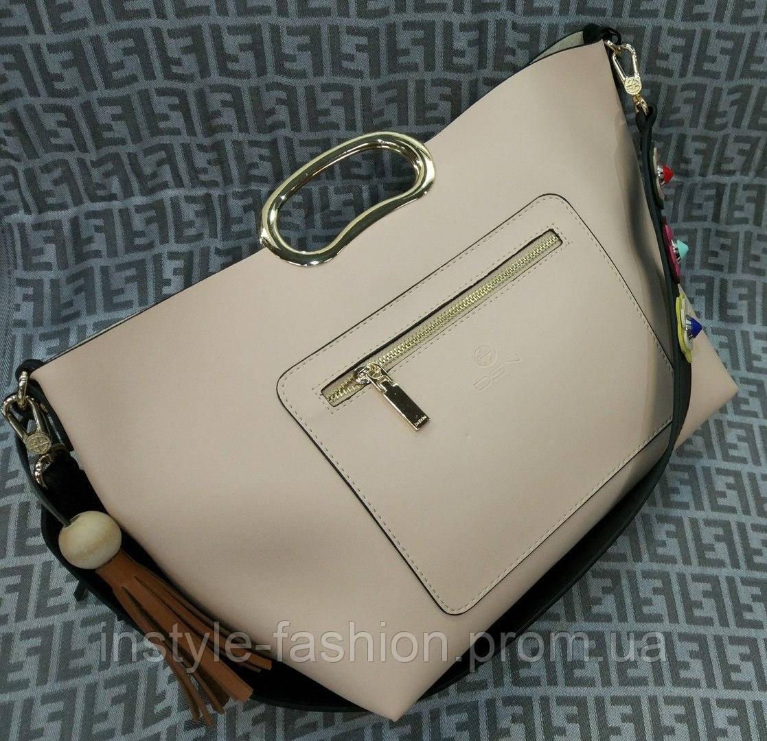 7b37e31853fa Модная женская сумка с ручкой эко-кожа бежевая: купить недорого ...