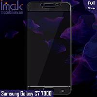 Защитное стекло Imak Samsung Galaxy C7 C7000 Full cover (Black)