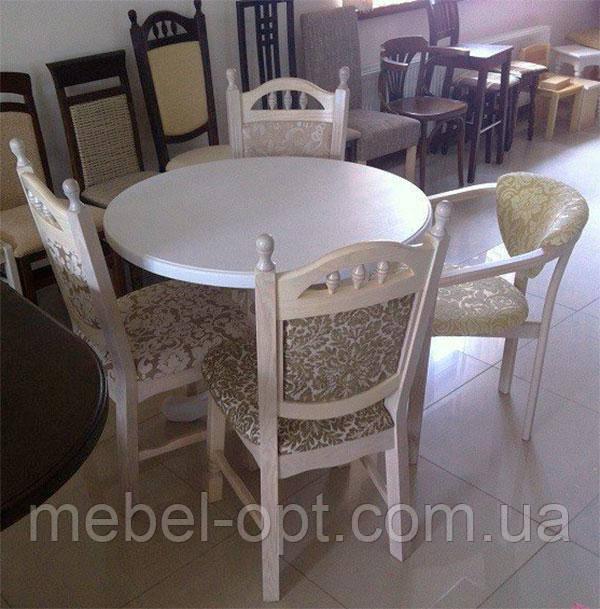 Круглый деревянный стол К2