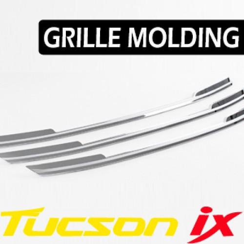 Молдинг решетки радиатора K-980 (ХРОМ) - Hyundai Tucson iX / ix35 (KYOUNG DONG)