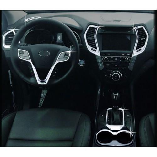 Накладки для салона полный комплект C673 (ХРОМ) - Hyundai Santa Fe / ix45 (AUTO CLOVER)