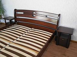 """Кровать """"Каприз"""" (200*160), массив дерева - ольха, покрытие - """"итальянский орех"""" (№ 462). 2"""