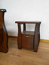 """Кровать """"Каприз"""" (200*160), массив дерева - ольха, покрытие - """"итальянский орех"""" (№ 462). 3"""