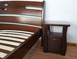 """Кровать """"Каприз"""" (200*160), массив дерева - ольха, покрытие - """"итальянский орех"""" (№ 462). 5"""