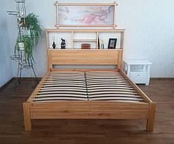 """Кровать с полками в изголовье """"Комби"""" (200*160), массив дерева - ольха, покрытие - лак. 2"""