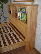 """Кровать с полками в изголовье """"Комби"""" (200*160), массив дерева - ольха, покрытие - лак. 10"""