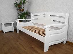 """Диван - кровать """"Луи Дюпон Люкс"""" (200*80), массив дерева - ольха, покрытие - """"белая эмаль"""" 2"""