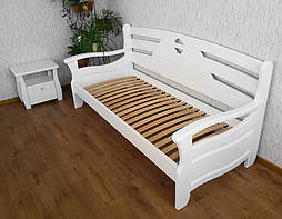 """Диван - кровать """"Луи Дюпон Люкс"""" (200*80), массив дерева - ольха, покрытие - """"белая эмаль"""" 3"""