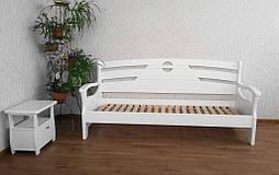 """Диван - кровать """"Луи Дюпон Люкс"""" (200*80), массив дерева - ольха, покрытие - """"белая эмаль"""" 4"""