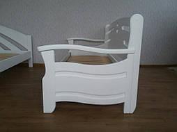 """Диван - кровать """"Луи Дюпон Люкс"""" (200*80), массив дерева - ольха, покрытие - """"белая эмаль"""" 5"""