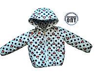 Демисезонная курточка принты для девочки, фото 1