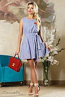 Женское летнее платье в полоску с пышной юбкой