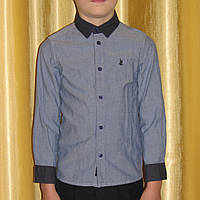 Модная джинсовая рубашка мальчику Coolclub Young Mans Collection р.116 и жилет