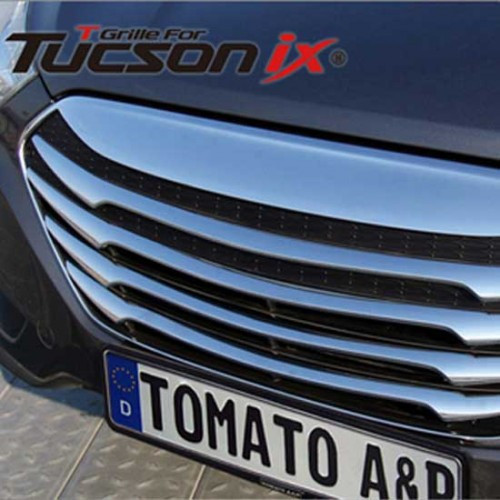 Решетка радиатора T-Grill (хромированная) - Hyundai Tucson iX  (TOMATO)