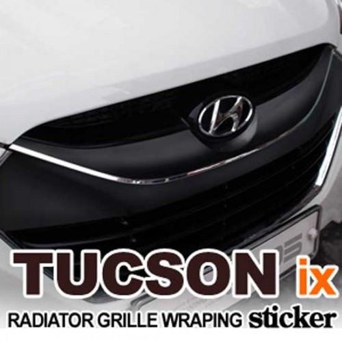 Стикер на решетку радиатора - Hyundai Tucson iX / ix35 (EXOS)