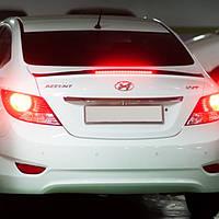 Лип-спойлер с LED подсветкой - Hyundai New Accent / Solaris (SM KOREA)